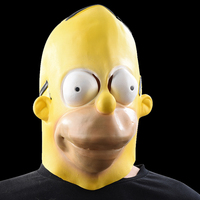 Homer Jay Simpson Masks Halloween Adult Latex Mask Cartoons Characters Cosplay Props Party Fancy Dress