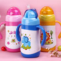 Safety Kid's Bottles Milk Water Straw Cup Juice Drinking Insulated Drink Bottle 300ml - flask kids sports thermos travel
