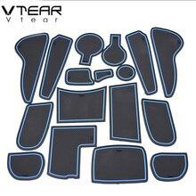 Vtear для hyundai Solaris нескользящий коврик против скольжения ворота Слот Накладка двери интерьера украшения автомобиля-Стайлинг acccessories sticky 11-16