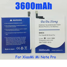 High quality BM34 3600mAh Battery Built-in Li-ion For Xiaomi Mi Note Pro Batteries(China)