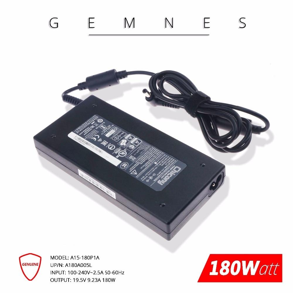 Dorigine 180 W 19.5 V 9.23A chargeur pour ordinateur portable Adaptateur secteur pour MSI GE72VR GS63VR Chicony A15-180P1A A180A005LDorigine 180 W 19.5 V 9.23A chargeur pour ordinateur portable Adaptateur secteur pour MSI GE72VR GS63VR Chicony A15-180P1A A180A005L