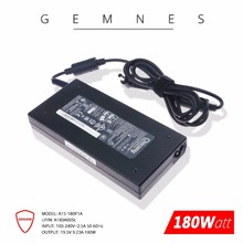 цена на Original Chicony 180W Laptop Charger Power Adapter for MSI GE72VR GS63VR WS63VR GS73VR GS43VR GT60 GT70 A15-180P1A A180A005L