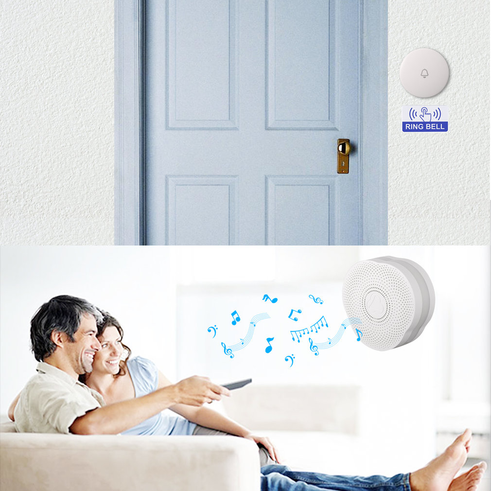 Gs-dml Doorbell & Night Light Alarm System Built-in Bluetooth 4.0 Us Plug Support Door Contact/pir Motion Sensor Voice Prompt Without Return Security Alarm