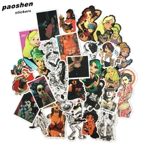 47Pcs PVC Beauty  Waterproof Personality Cool Stickers For Car Laptop Motorcycle Skateboard Luggage Furnitur Decal Toy Sticker