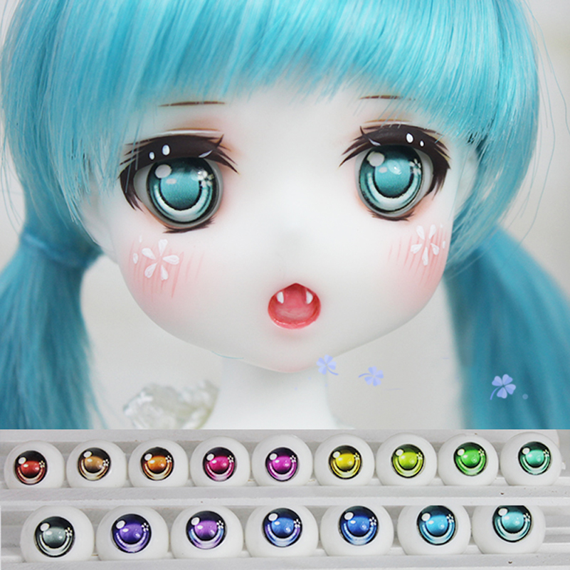 Flower Shape Anime Acrylic Doll Eyes For 1/3 1/4 1/6 SD DD