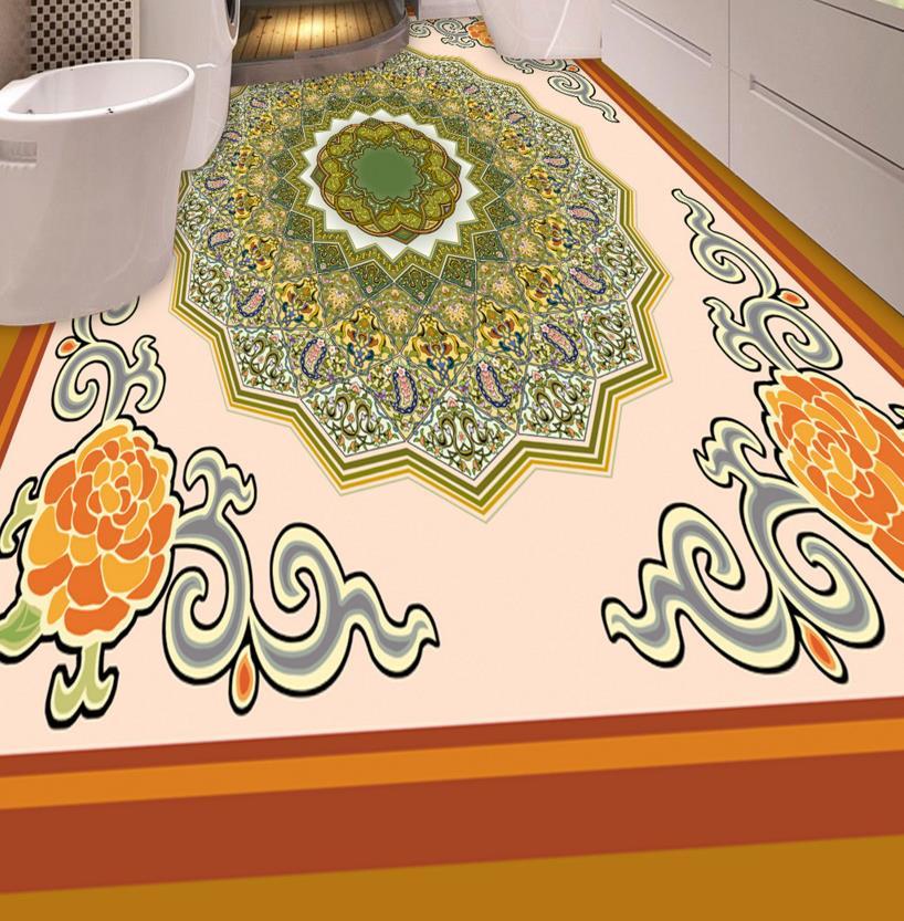 ФОТО European parquet 3d floor custom bedding room bathroom 3d flooring non-slip self-adhesive waterproof 3d floor murals