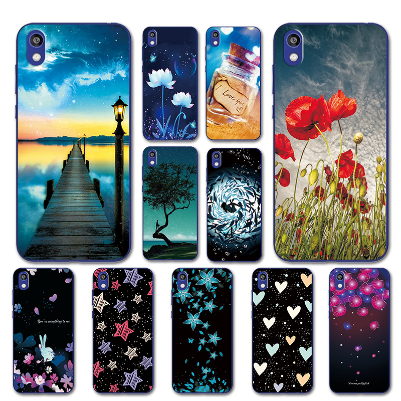Silicone Case For Huawei Y5 2019 Pretty Sky Cover For Huawei Honor 8S 8 S KSE-LX9 Heart Phone Bags For Huawei Y52019 5.71 Inch