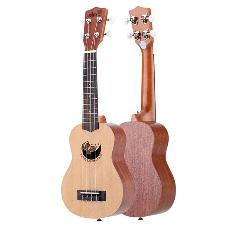 Kaka KUS-DR/MGK/DU/KT/FL 21'' Mini Spruce Engraving Ukulele Four 4 Strings Instrument Bass Guitar Rosewood Sapele Ukelele+Case free dhl ems red sleeved 12 black