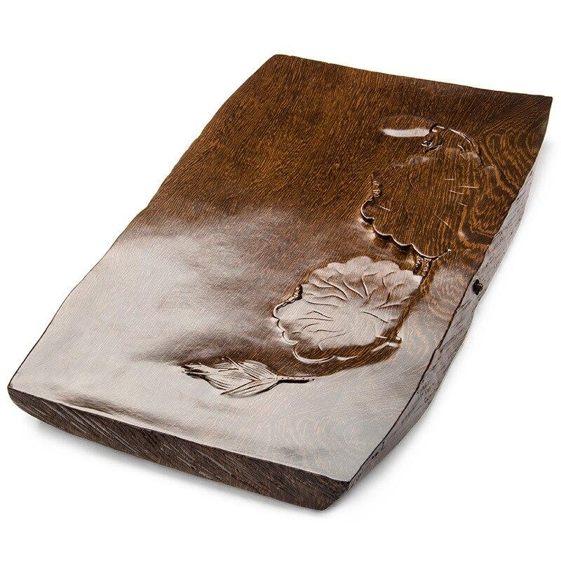 De haute qualité ménage kung fu plateau de thé comprimés sculpté un remplacement thé table