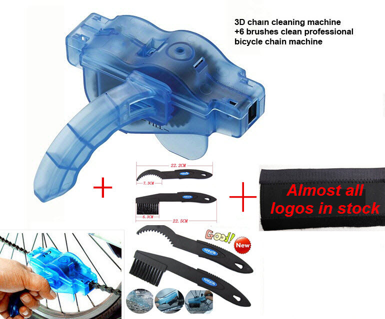4pc/Lot Bicycle Parts Bike Chain Cleaner+Cycling Clean Brushes+Clean Brush+Chain Protector bicycle chain tool kit for chain