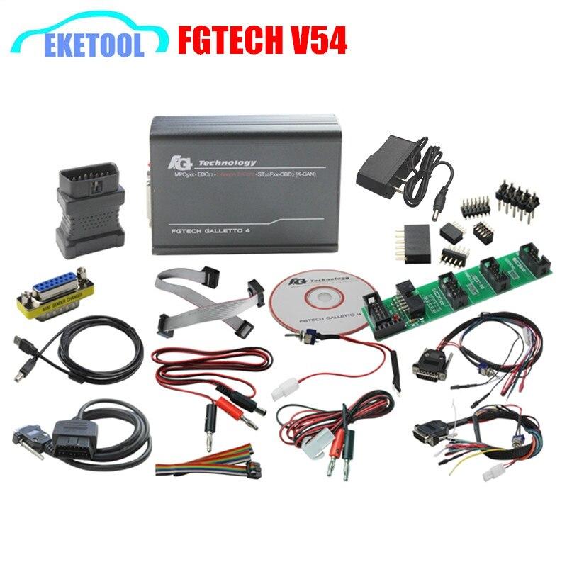 imágenes para Alta Calidad Última Versión FGTECH Galletto 4 Master V54 Auto ECU Chip Tuning Programador Unlock Versión FG TECNOLOGÍA Multi-idioma
