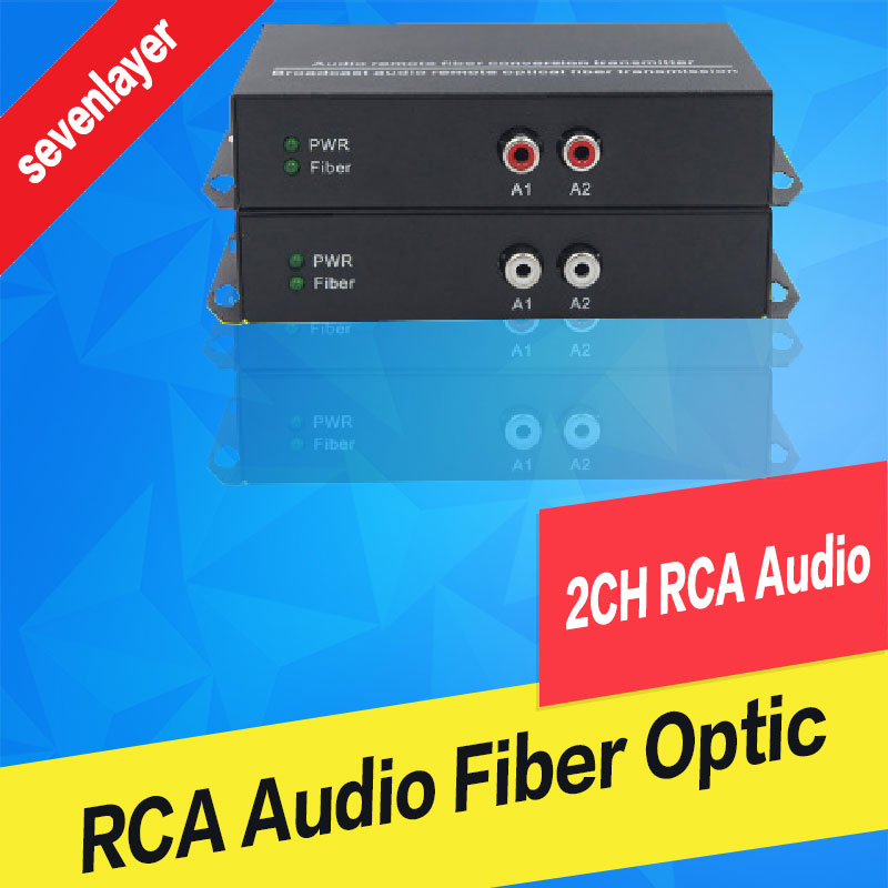 2ch RCA Audio To Fiber Optic Digital Audio Converter Stereo Audio Over Fiber Optic Extender Converter For Broadcast System