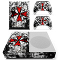 Resident Evil Umbrella Logo For XBOX ONE S Skin Stickers + 2Pcs Controller Skin Console Stickers Skin For XBOX ONE S Vinyls