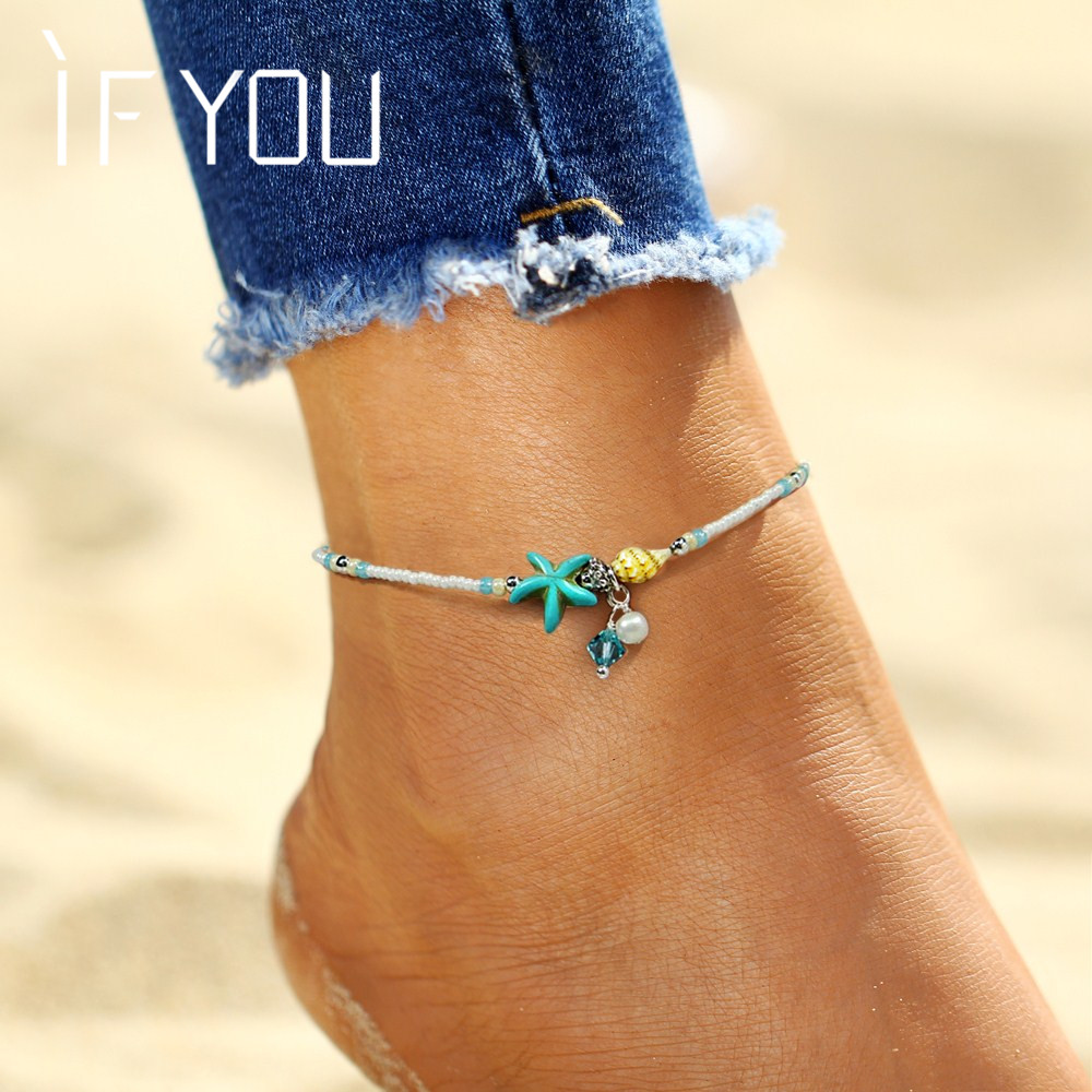 Bohemia Bead Shell Anklet Foot Jewelry Women Ankle Leg Jewelry