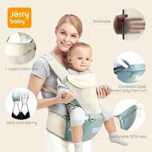 Image 3 - Jerrybaby מנשא לנשימה ארגונומי תינוקות Carrier חזית מול קנגורו תינוק לעטוף קלע שרפרף מותניים תינוק 0 36 חודשים