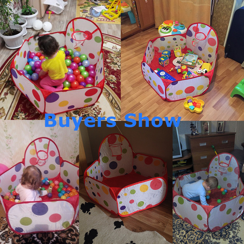 Foldable Children's Toys Tent For Ocean Balls Baby Play Ball Pool With Basket Outdoor Game Large Tent For Kids Children Ball Pit #6