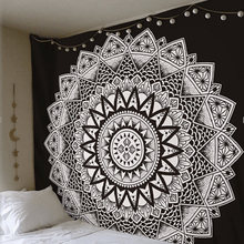Mandala Tapestry Indian Decorative Wall Hanging Floral Boho Wall Carpet Colored Printed Decorative Tapestry 150*150cm(China)