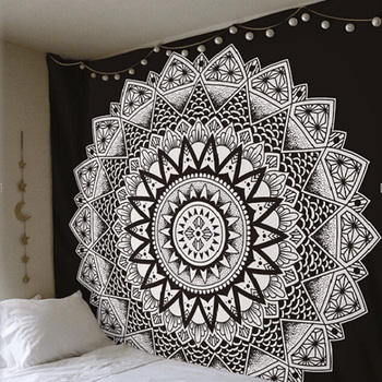 Mandala Tapestry Indian Decorative Wall Hanging Floral Boho Wall Carpet Colored Printed Decorative Tapestry 150*150cm