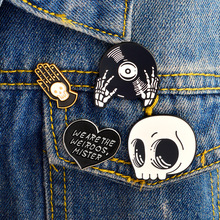 2018 NEW Creative Skull CD WE ARE THE WEIRDOS MISTER cartoon brooches Enamel pins  jewelry Badge t-shirt Collar bag accessories