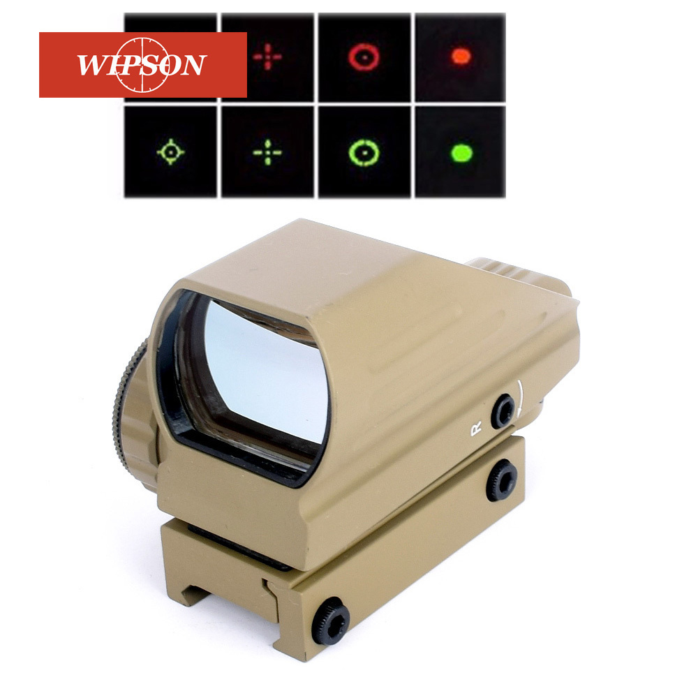 Tan color Reflex Red/Green Laser 4 Reticle Holographic Projected Dot Sight Scope Airgun sight Hunting 11mm/20mm Rail Mount el 1400 holographic red dot sight reflex sight 21mm rail mirino laser per carabina hunting optica scope