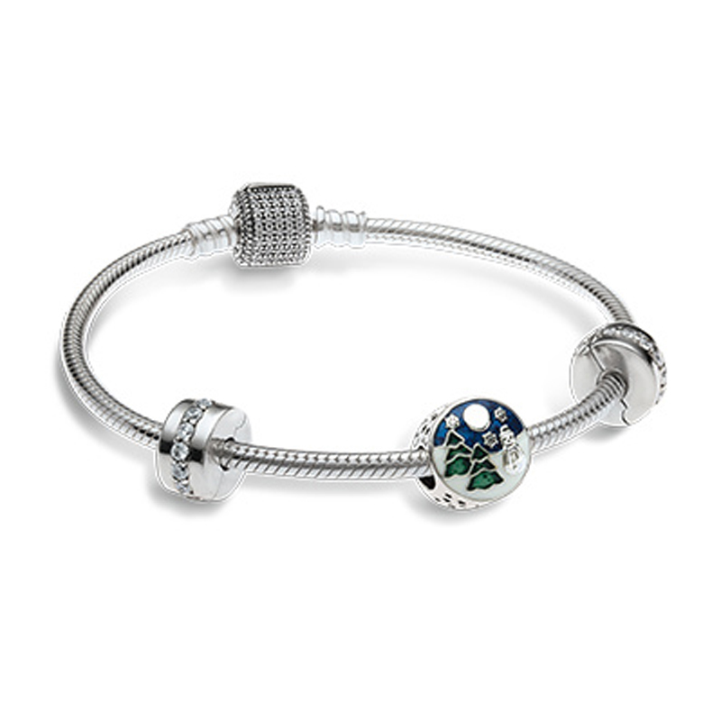 NEW Newest Authentic 925 Sterling Silver Bead Charm Holiday Christmas Tree Charms Fit Bracelets SET Women Gift DIY JewelryNEW Newest Authentic 925 Sterling Silver Bead Charm Holiday Christmas Tree Charms Fit Bracelets SET Women Gift DIY Jewelry