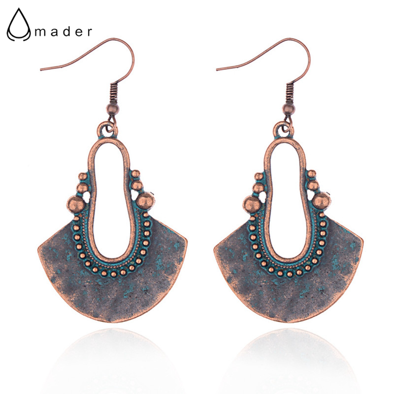 Amader Geometric Earrings Tribe Bronze Retro-Verdigris Women for HQE843 Sector