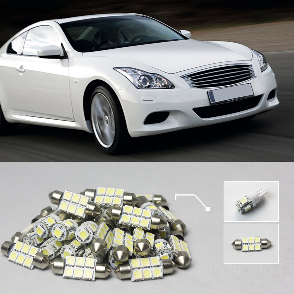 Popular infiniti g37 coupe buy cheap infiniti g37 coupe lots from 7x white led lights interior dome light package kit 07 for vanachro Image collections