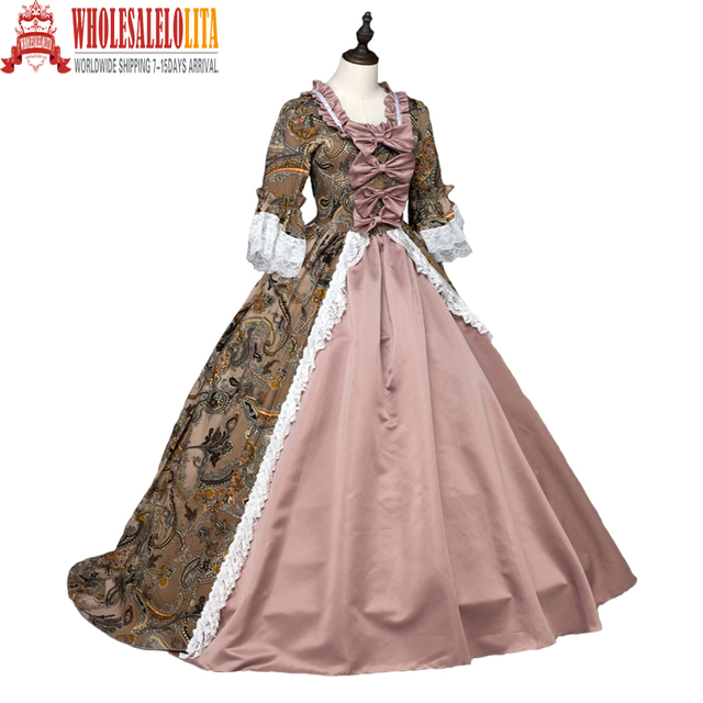 high quality southern belle renaissance georgian marie antoinette colonial brocade period dress