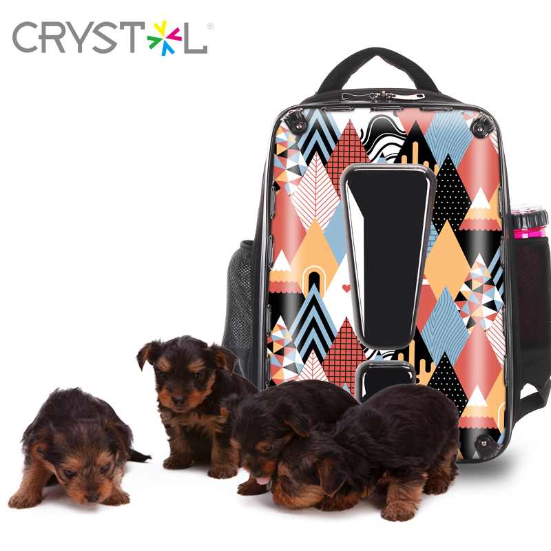 CRYSTL new pet backpacks travel rucksack 18 inch PC hard case backbag for your lovely pet ,go anywhere ,pattern customization,