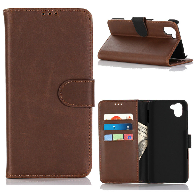 30pcs lot Retro Crazy Horse Book Style Leather Case With 3 Card Slots For Sharp Aquos
