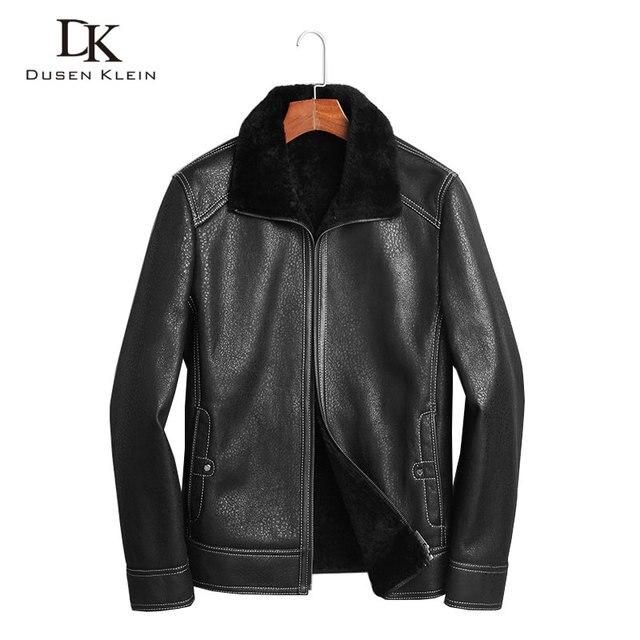 Laine de luxe en cuir vêtements hommes manteaux D hiver de l écologie  originale d70be3599c8