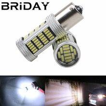 2 шт. 1156 BA15S P21W 92 smd 4014 автомобиля задние светодиодные лампы стоп-сигналы Авто Обратный резервного лампы дневного свет Белый Красный 12 В