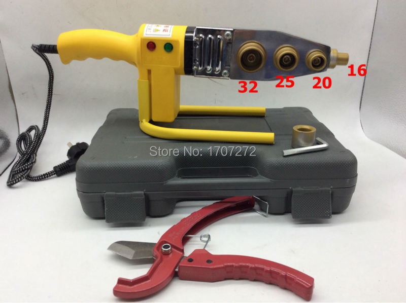 Free Shipping Full Automatic Heating PPR Pipe Welding Machine, plastic welder AC 220V 600W, 16-32mm welding plastic free shipping plumber tool with 42mm cutter 220v 800wplastic water pipe welder heating ppr welding machine for plastic pipes