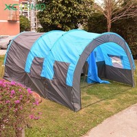 5 10 Person Big Double Layer Tunnel Tent 480*310*210cm Outdoor Huge Camping Family Tent House for Party Hiking Fishing Tourist
