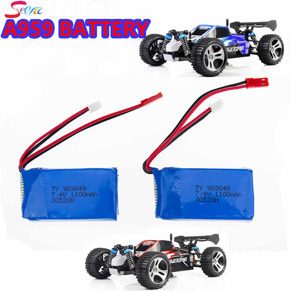 7.4V LiPo Drone Batteria Wltoys A949 A959 A969 A979 K929 1100mah Lipo Battery 2S For Wltoys a959 RC Helicopter Airplane Car Boat