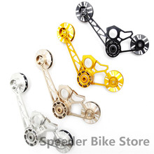 Aceoffix 4 цвета для велосипеда Brompton натяжитель 123 г алюминиевый сплав CNC для одной скорости внешний 2 Внешний 3 Внешний 4 скорости