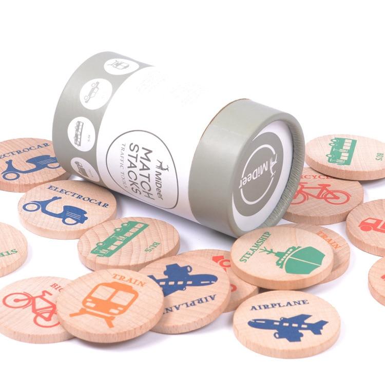Laste puidust mälu, kognitiivse mälu ploki sobitamine mänguasjadele, laste luureandmete arendamise hariduse mänguasjad