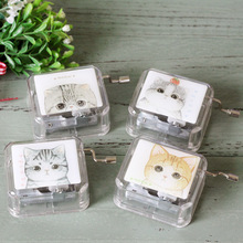 2017 4 PCS Totoro Cat Music Box Transparent Acrylic Music Box Hand-Cranked Gift Musical Box Children Toy Novelty Music Box