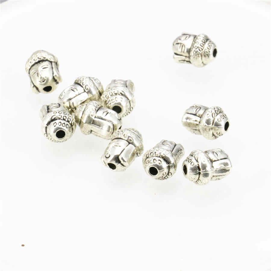 10 ชิ้นทองแดงพระพุทธรูปหัว Lucky DIY ลูกปัดค้นหาอุปกรณ์เสริมอะไหล่งานฝีมือแฟชั่นเครื่องประดับ 7x10 มิลลิเมตร
