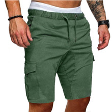 Casual knee length men's loose fit cargo shorts multi-pocket summer sports army shorts fashion outdoor street tactical 2018 men multi pocket military cargo shorts casual cotton loose knee length army tactical shorts homme summer male sweatpants