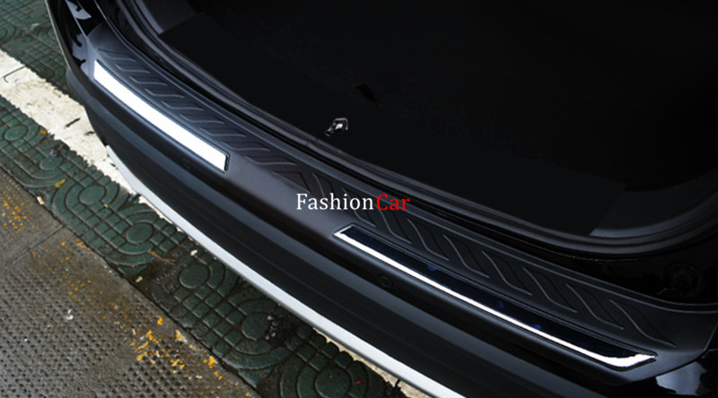 For Mitsubishi Outlander 2016 2017 Car Rear Trunk Bumper Door Sill Guard Plate Protector 1pcs abs Plastic for skoda octavia a7 2015 2017 sedan car stying after guard rear bumper trunk guard door sill plate car accessories