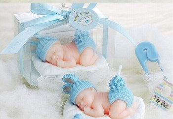 kids Cute children's party candle baby shower favor gift--Sleep Baby Smokeless candle  birthday party decoration 20pcs/lot