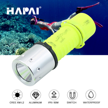 Scuba diving flashlight Cree XM-L2 Magnetic switch Rechargeable underwater led torch flashlight for diving 3*AAA/1*18650 battery цена в Москве и Питере