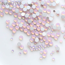 450 pcs/Pack Mix taille rose opale cristal Nail Art strass pour 3d breloque verre Flatback Non Hotfix bricolage ongles décorations(China)