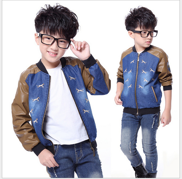 bd808ea67 New arrival 1 PS Kids Boys Autumn suit 5-11 year old boys student clothes  Gray long-sleeved jacket sports clothes Free shipping