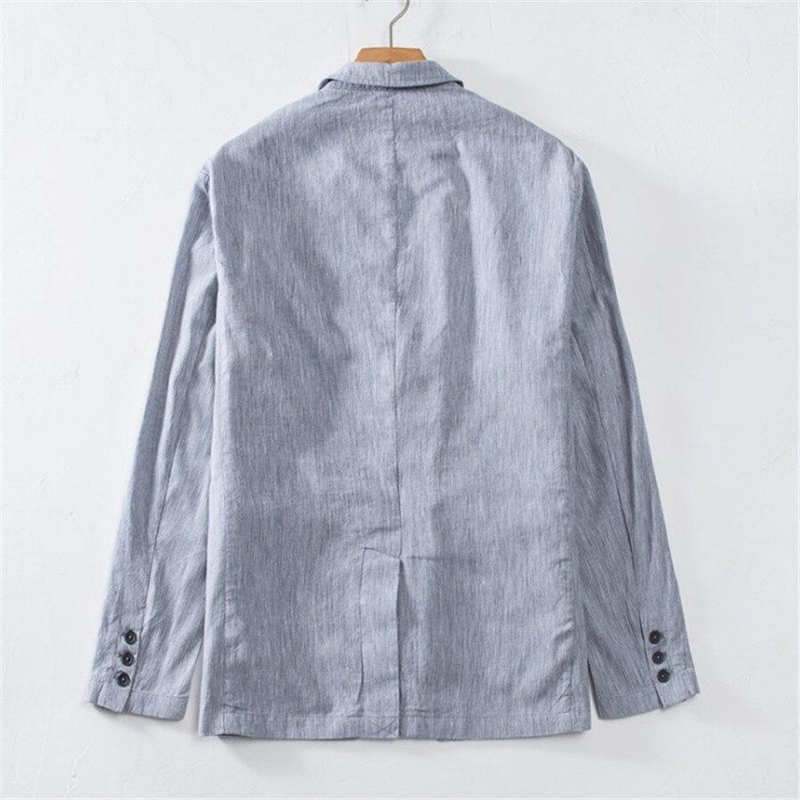 ลำลองฝ้ายผู้ชาย Blazer ฤดูร้อนบุรุษชุด Slim Fit Blazer Hombre เดียว Breasted Masculino Xl5085-ใน เสื้อเบลเซอร์ จาก เสื้อผ้าผู้ชาย บน   2