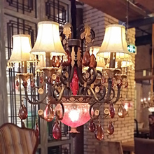 Buy western chandeliers and get free shipping on aliexpress modern cafe led chandelier western restaurant lamps bar club ktv decorative chandeliers resin crystal lighting aloadofball Image collections