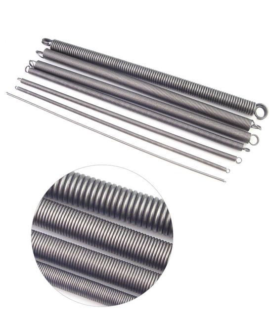 Big Heavy Duty Garage Door Long Extension Coil Springs With Hooks
