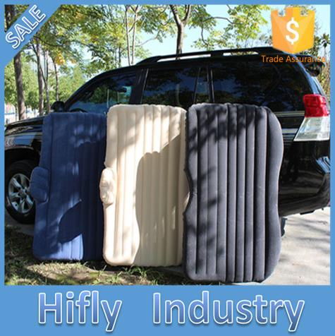 ФОТО New Car Air Mattress Travel Bed Car Back Seat Cover Inflatable Mattress Air Bed Good Inflatable Car Bed For Camping