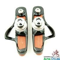 초경량 도로 자전거 캘리퍼스 브레이크 신발 + 브레이크 패드  1 쌍  적합 탄소 림  이중 피벗 캘리퍼스 브레이크 패드